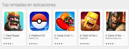 Pokémon Go ingresos Google Play