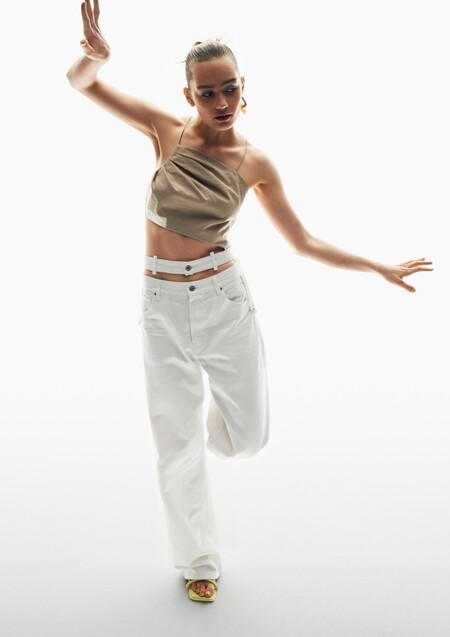 Lo nuevo en moda sostenible de H&M viene con prenda viral incluida: así son los vaqueros anchos con doble cintura que todas querremos