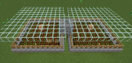 Vallas alrededor de la granja automática de patatas zanahorias trigo minecraft
