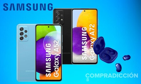 Esta semana, Amazon tiene los Samsung Galaxy A72 y A52 con auriculares true wireless Buds Live incluidos a precios superrebajados
