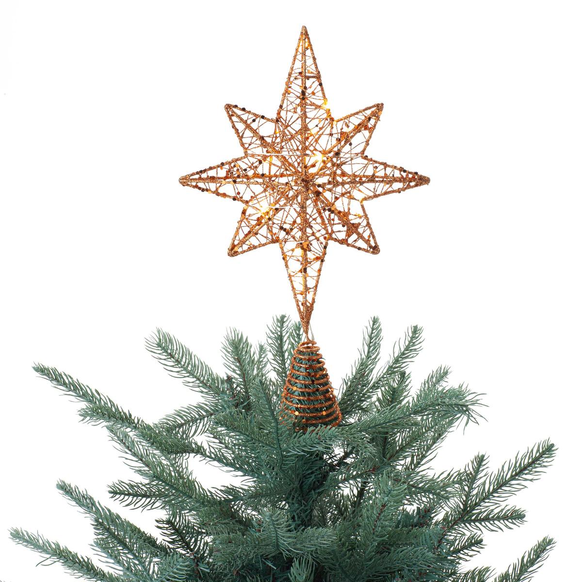 Estrella para el árbol de Navidad con luz