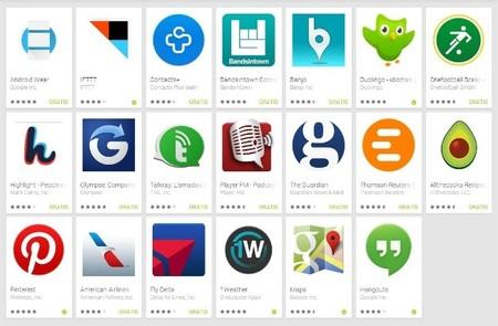 Google Play recibe la aplicación oficial de Android Wear y una sección de aplicaciones compatibles