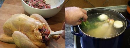 pollo de corral relleno elaboración 2