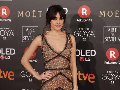 Premios Goya 2018: Macarena García defiende a la perfección el vestido de gala montañero de Dsquared2