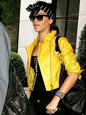 El recargado look de Rihanna