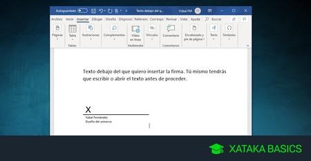 Cómo firmar un documento de Word