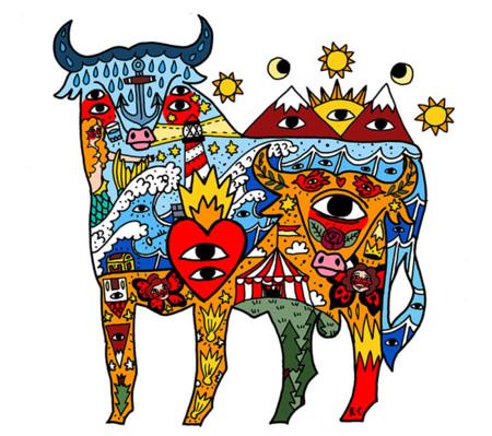 Gracias a Cavolo, el toro se expresa a través del color