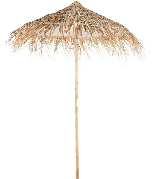 Sombrilla en fibra vegetal de abeto y trenzada