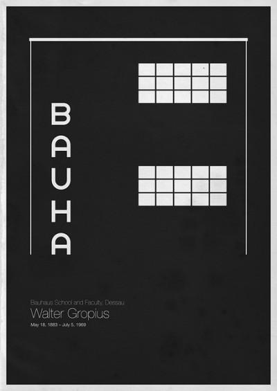 Foto de Six Architects, pósters minimalistas de grandes arquitectos (1/6)