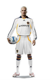 David Beckham, vestido del L.A. Galaxy