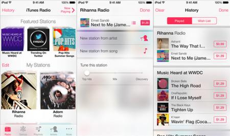 iOS 7 iTunes Radio