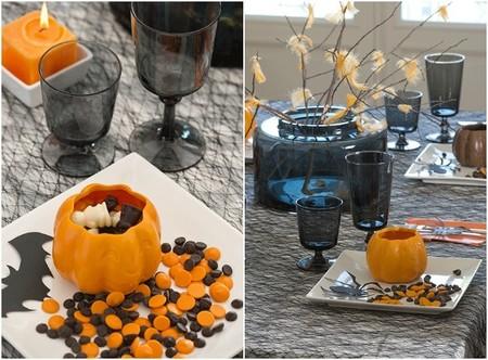 mesa de dulces para hallowen, detalles