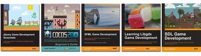 Cinco libros para el desarrollo de videojuegos en cinco tecnologías libres diferentes