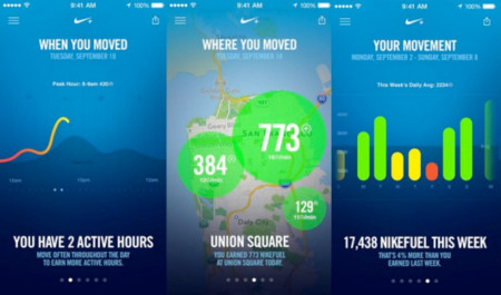 Ya tenemos Nike + Move en la App Store  (iPhone 5S)