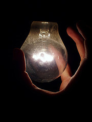 luz de bombilla