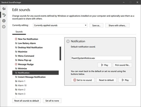 Cambiar Sonidos Windows 10 Soundpackager 2