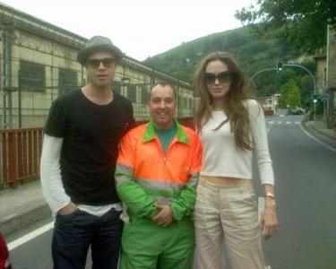 Brad, Angelina y el barrendero de Bilbao