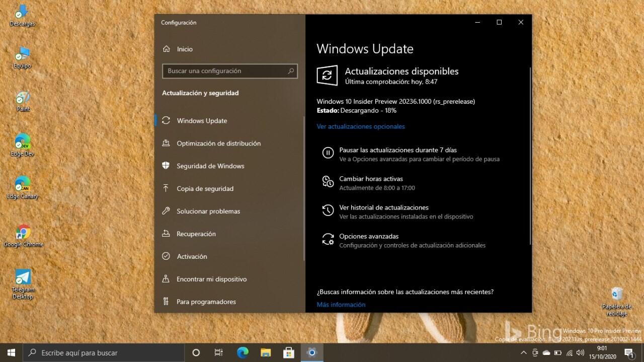Microsoft lanza la Build 20236: Windows 10 ya permite cambiar la frecuencia de actualización de la pantalla