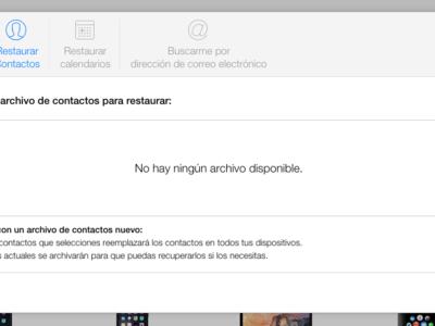 iCloud.com permite ahora recuperar contactos y calendarios perdidos