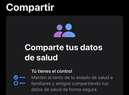 ios 15 compartir datos salud