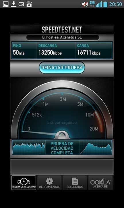 Vodafone 4G subida