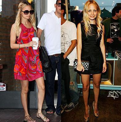 Nicole Richie y sus mini vestidos, de día, y de noche