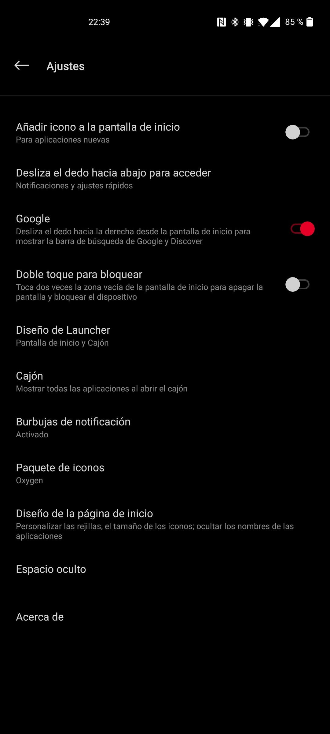 Software del OnePlus Nord