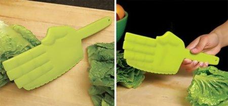 Cuchillo karateka para la lechuga