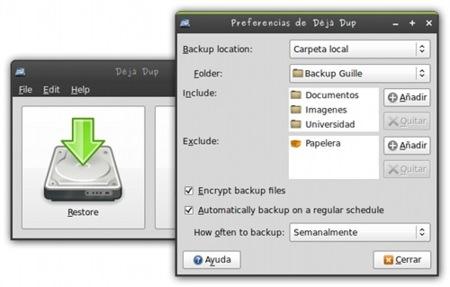 Déjà Dup: copias de seguridad cómodas y sencillas en GNU/Linux