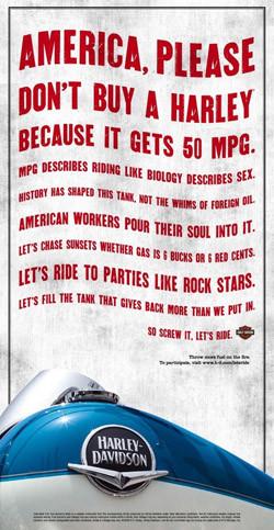 Harley Davidson apela al patriotismo