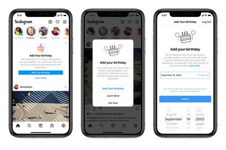 Instagram necesita saber tu fecha de nacimiento: sin ella no podrás seguir usando la aplicación