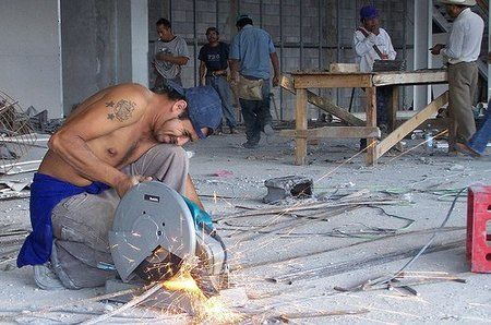 Los trabajadores de la construcción no se enteran