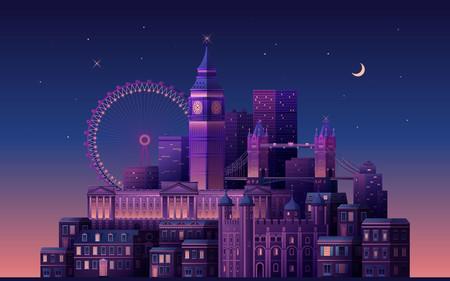 Si buscas el wallpaper perfecto echa un vistazo a este hermoso kit de ilustraciones de ciudades en diferentes estilos