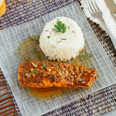 Salmón marinado estilo Cajún. Receta
