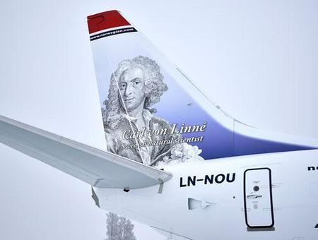 Aviones con caras famosas