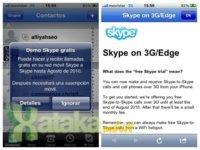 Skype 2.0 para iPhone soporta llamadas VoIP 3G entre usuarios