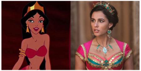 Comparación de Jasmine en la película animada y en su Live Action.
