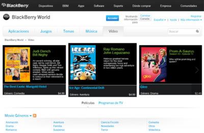 BlackBerry World pisa el acelerador y se actualiza, en ciertos países, con música, cine y series