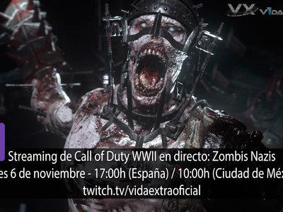 Streaming de COD WWII zombis nazis a las 17:00h (las 10:00h en CDMX) [finalizado]