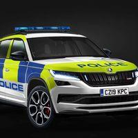 El Škoda Kodiaq RS se viste de coche de policia en Reino Unido: un SUV de 240 CV para patrullar las calles