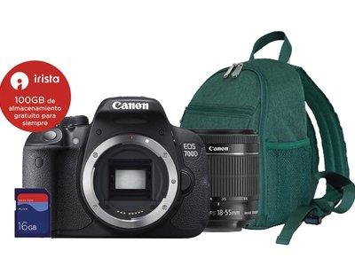 El Corte Inglés tiene un pack fotográfico a precio de chollo: Canon EOS 700D + 18-55 IS + mochila + tarjeta por 499 euros
