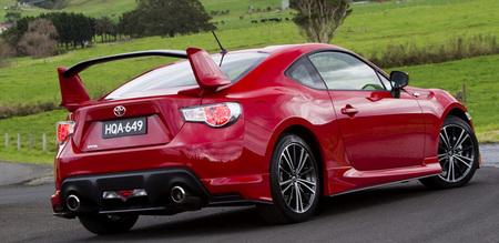 Toyota Australia dota al GT 86 de un gigantesco alerón