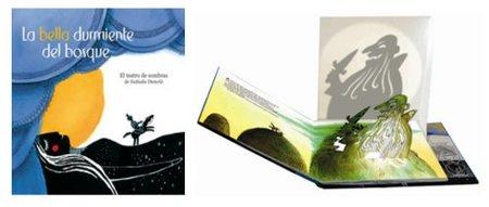 """""""La bella durmiente del bosque"""", teatro de sombras en un libro"""