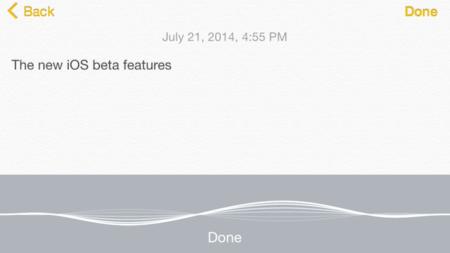 iOS 8 Beta 4 incorpora reconocimiento de voz en tiempo real