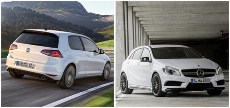 Volkswagen Golf GTI y Mercedes-Benz A 45 AMG