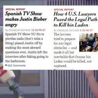 No, la visita a España de Justin Bieber no ha salido en la portada del New York Times