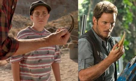 Jurassic World y Jurassic Park, garra-diente
