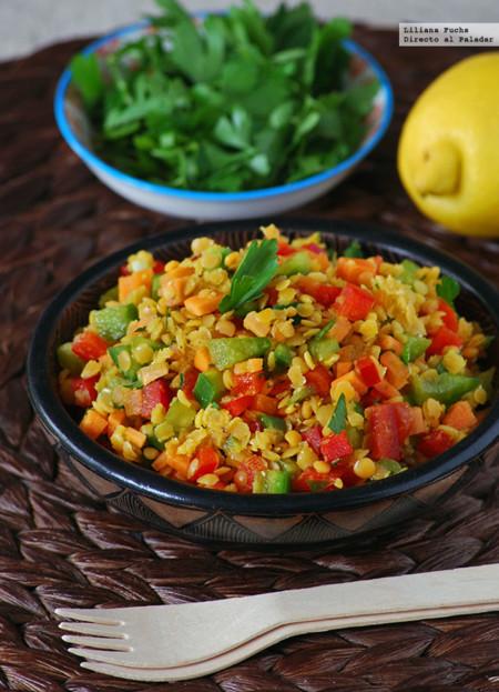 Ensalada Crujiente De Lentejas Rojas Receta De Cocina Fácil Sencilla Y Deliciosa