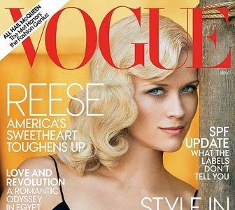 De nuevo Reese Witherspoon en una portada: años '20 para Vogue USA del mes de mayo