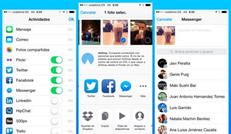 Facebook Messenger se suma a las extensiones de iOS 8